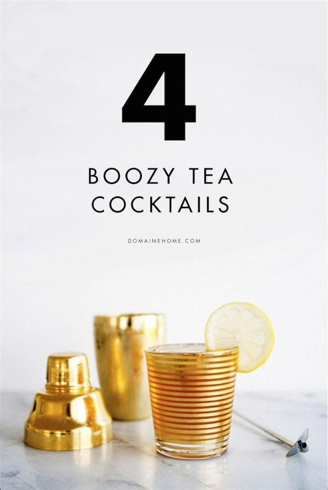 You need to try these tea cocktails