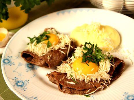 Lövbiff med pepparrot och potatispuré | Recept.nu