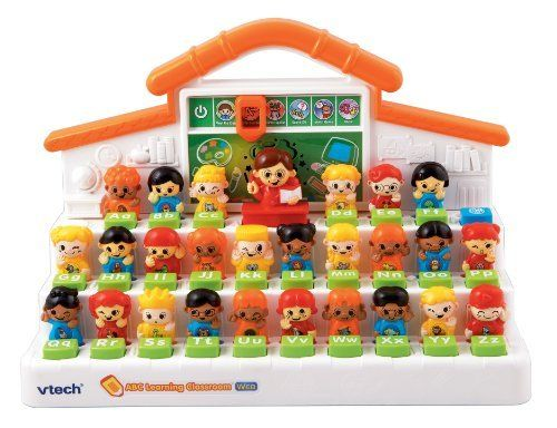VTech - ABC Learning Classroom with Web Connect by V Tech. $28.00. From the Manufacturer                The interactive ABC Learning Classroom brings school directly to your child as it guides them through a variety of different play modes that teach about letters, phonics, vocabulary and more. The teacher provides hints during play while the students in the classroom pop up with responses and answers. For added interactivity, parents can download their child's name, favorite act...