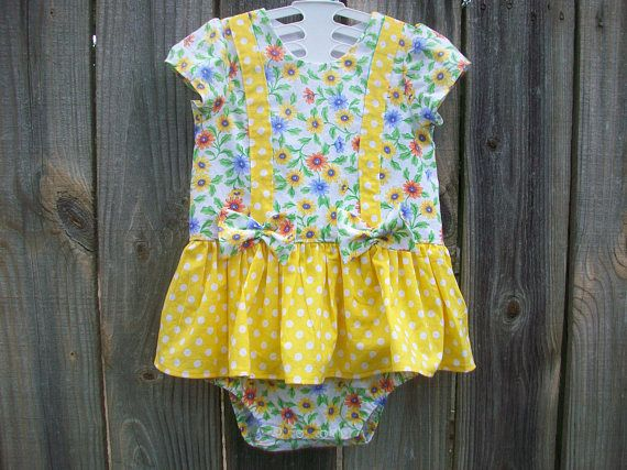 Girls Romper Bubble Romper Girls Daisy Outfit Girls Jumper