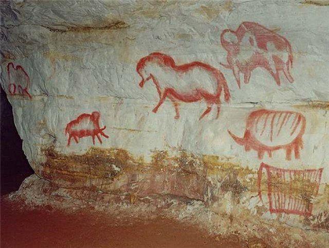наскальная живопись. Капова пещера, Россия