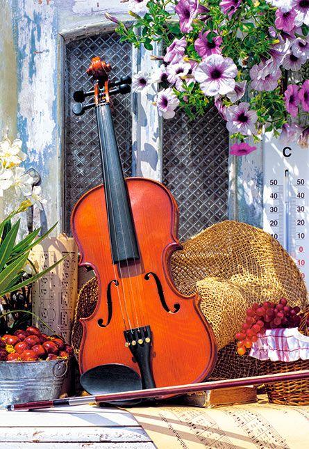 Jigsaw Puzzles - Violin's Melody (Castorland 1000 Piece Jigsaw Puzzle)