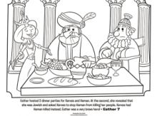 Esther Dinner Party Coloring Page