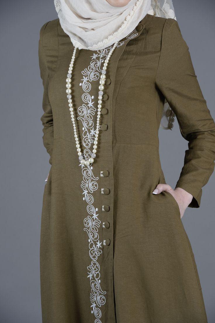 This unique Abaya Coat falls elegantly with its tasteful embroidery, round fabric buttons and fine line stitching.#onlineshopping #modestfashion #hijab #fashion #islamicdress #dresses #unitedkingdom #ukfashion #uk #style