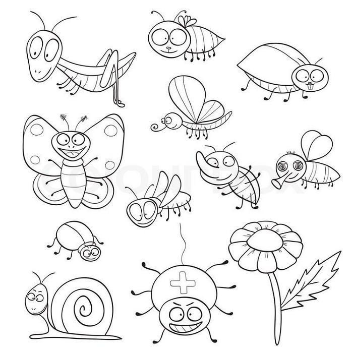 Preschool Coloring Pages Insects Insect Coloring Pages Bee Coloring Pages Coloring Pages