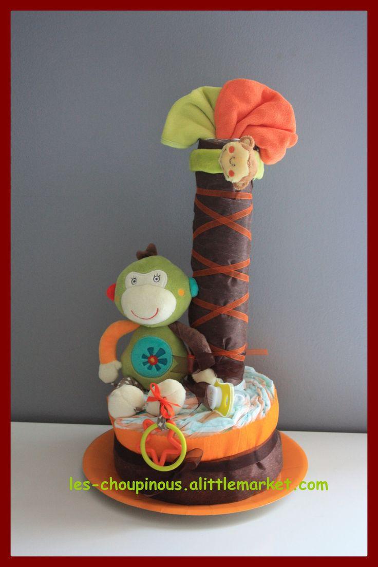 Cadeau bébé naissance baptême gâteau de couches : Décoration pour enfants par…