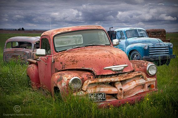 old vintage car bodies in an automobile junk yard a fine art landscape photograph cars paintings and yards