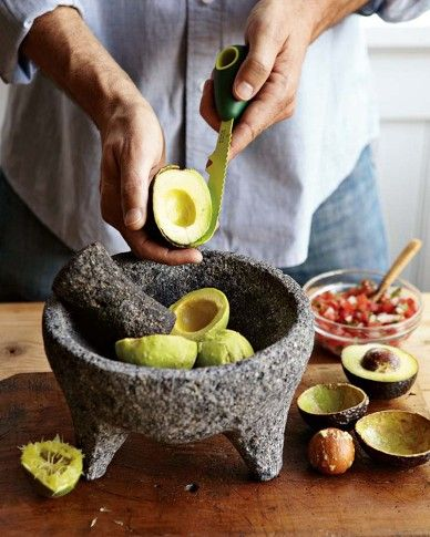 $50 Extra Large Mortar and Pestle Bowl (called Molcajete) carved from volcanic rock.  Use for grinding spices or making guacamole