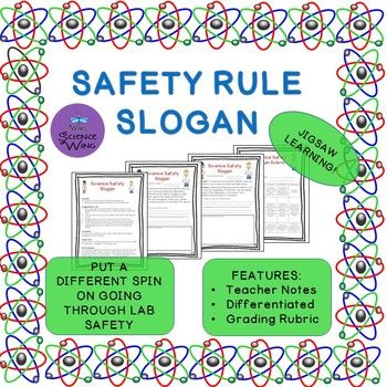 Students will have fun learning about how to stay safe in the laboratory. This differentiated group jigsaw activity will have students use creativity to come up with a catchy slogan for one of the science safety rules in your lab. Each group will create an attractive poster