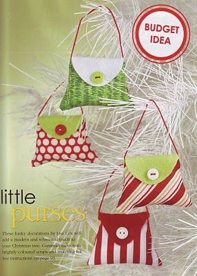 little handbag ornaments from Spoon Full of Sugar girls