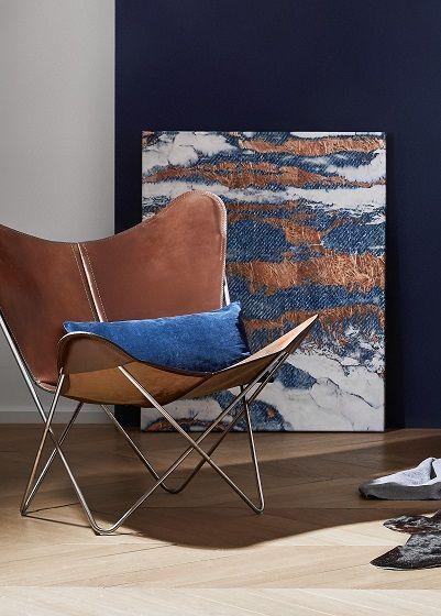 Ein Klassiker In Leder. Der Butterfly Chair Verleiht Eurem Wohnzimmer  Rustikalen Flair Und Ist Dabei Auch Noch Super Bequem!