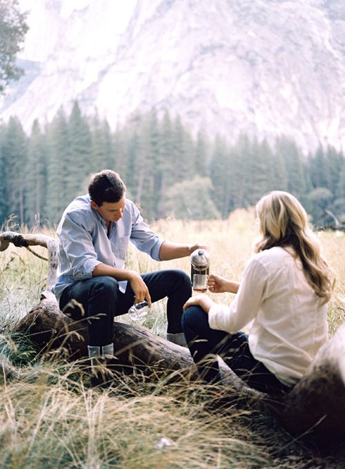 All I want is for a beautiful man to take me camping, share a sleeping bag with me and make coffee in the morning.