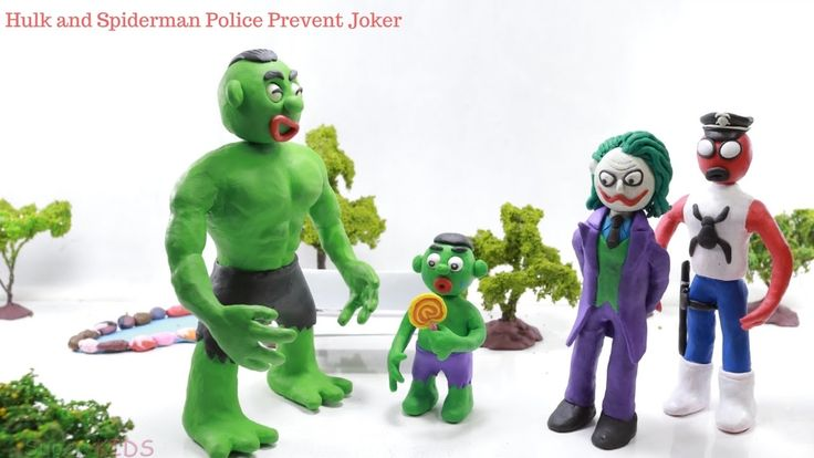 Hulk and Spiderman Police Prevent Joker From The Stealing Candy Of Hulk'...