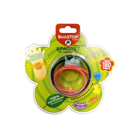 BugSTOP Детский браслет от комаров KIDS&TOY, BugSTOP  — 305р. -- Изготовлен из пластика (ПВД), 20% от объма составл.пропитка маслом травы цитронеллы.                                              В действии испарение паров репеллента не позволяет комарам приблизиться, обеспечивая индивид.защиту в радиусе до 3 метров.  Рекомендован к использованию на открытом воздухе, влагостоек. Разл.рисунки в миксе упаковки. Общий срок службы не менее 180 ч. защиты.   Для сохранения действия может храниться…