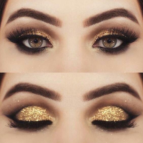 Sombra dourada glitter