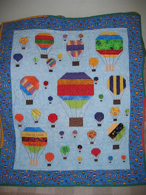 Hot Air Balloon Baby Quilt | Flickr - Photo Sharing!