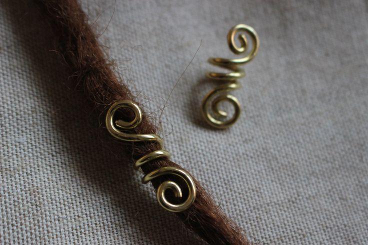 Braid jewerly, celtic hair decoration, viking hair bead, celtic bead di Aryacreativeatelier su Etsy