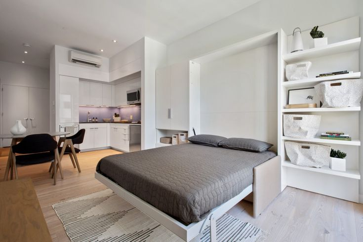 Each studio inside of New York City's first luxury micro-apartment building, Carmel Place, is curated with sophisticated neutral tones and strategically equipped Italian custom-made furniture.