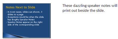 How to Converting PowerPoint 2010 Slide Shows to Word Documents: Print Speaker Notes Next to Slide on Handout