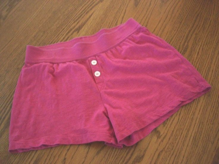Gilligan & O'Malley Womens Cotton Knit Sleep Shorts Sz M Pink Lounge PJ #GilliganOMalley #SleepShorts