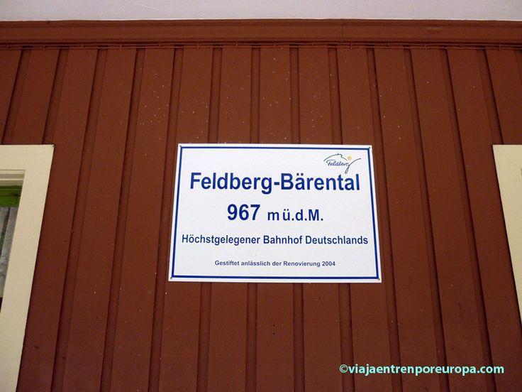 Indicación de la altura de la estación de Feldberg-Bärental
