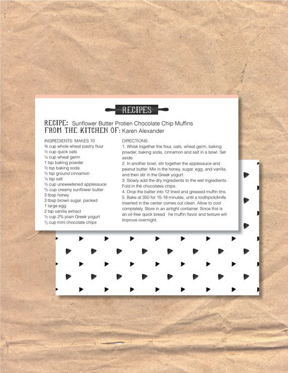 Printable & Editable Recipe Cards: Instant by FrellaDesigns