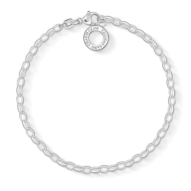 Very fine silver bracelet in 925 Sterling silver, closed with a lobster clasp. You decide how many Charm pendants you would like to attach. (Width: 0.3 cm)