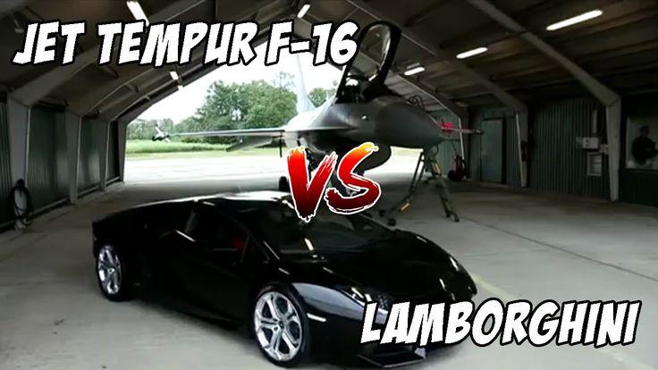 Wow!!! Drag ● Lamborghini VS Pesawat Jet Tempur ● Siapakah Yang Menang?