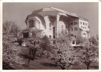 Goetheanum in Dornach, Switzerland. Designed by Rudolph Steiner. Also an Earth Heart Chakra site.
