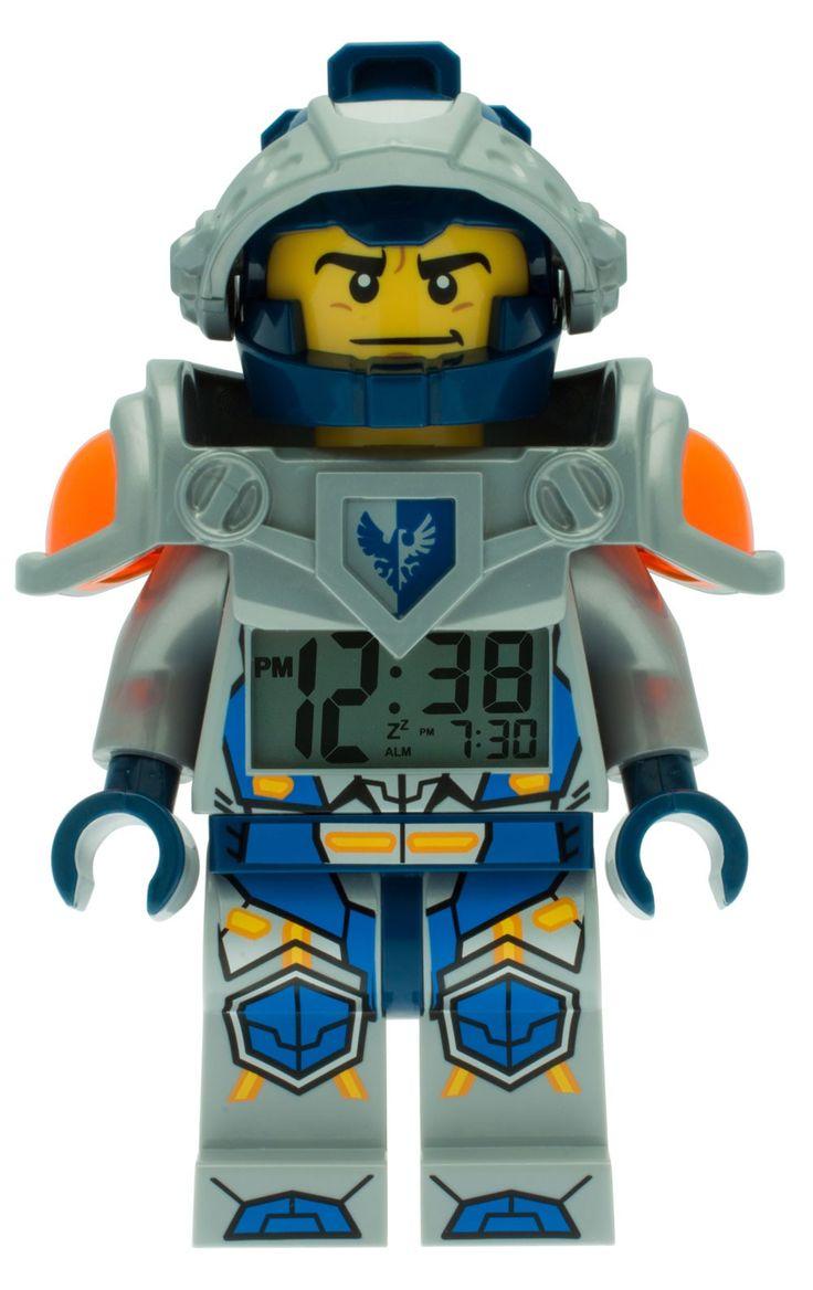 Lego Nexo Knights Clay Wecker Digitalwecker Alarm 9009419, Beleuchtung, Tagesalarm, Schlummerfunktion, Höhe ca. 25 cm, bewegliche Gelenke, lauter Piepton, blaue Display-Hintergrundbeleuchtung  http://www.uhren-versand-herne.de/lego-nexo-knights-clay-wecker-digitalwecker-alarm-9009419.html