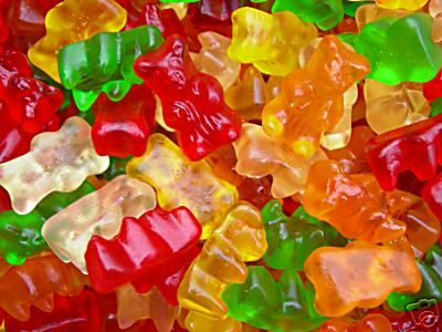 GUMMY BEARS: Little rubbery bears made of boiled bones, hooves and tendons infused with sugar & artifical color... no thanks! Here's a list of a few other gross things you're likely eating without knowing...