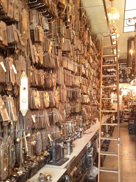 A great selection of vintage and antique hardware.