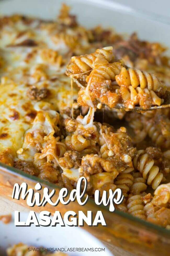 Easy Mixed Up Lasagna Recipe  **try with mozzarella instead of cottage cheese