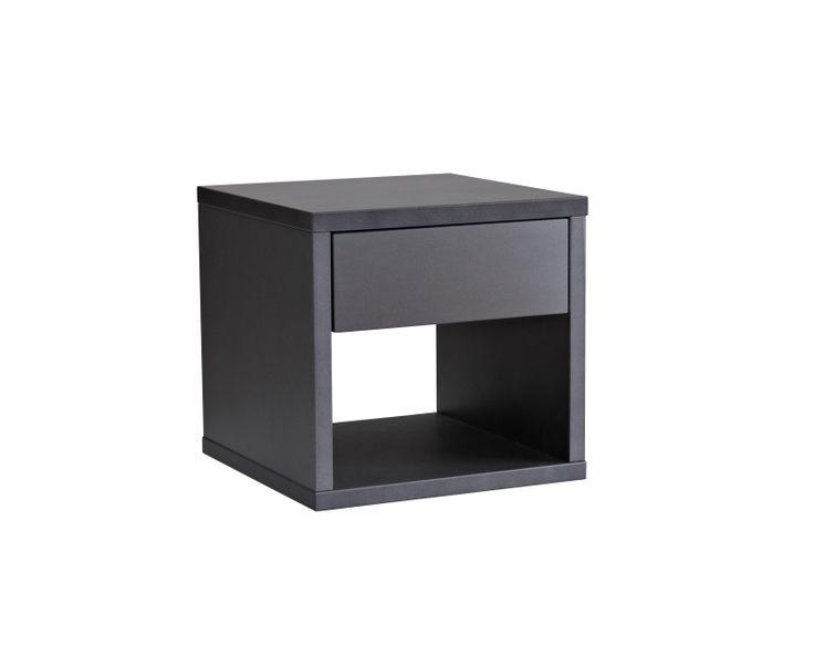 Sängbord fr Gustavssons möbler, svart el grå