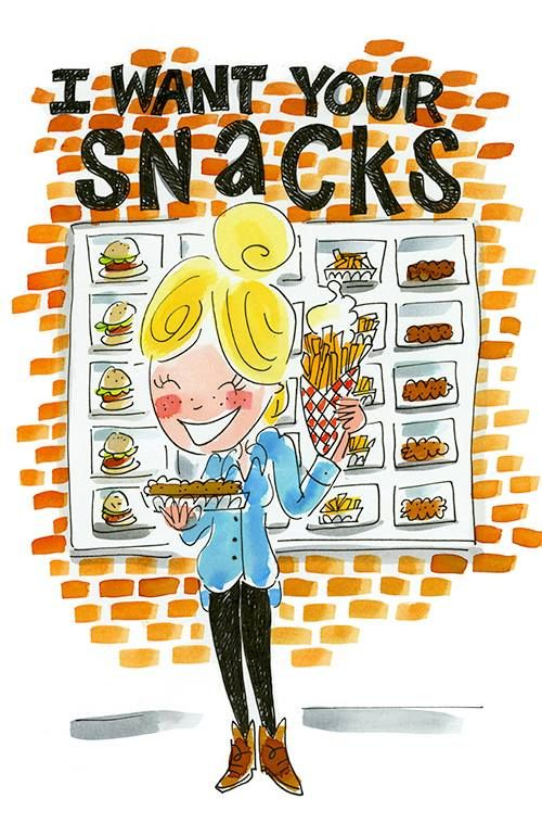 I want your snacks, Happy Junk Food Day! By Blond-Amsterdam