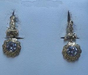 a pendientes con colgante tipo antiguo oro amarillo de 18 ktes peso 230 gr
