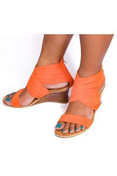 Orange Strappy Suede Sandals https://modasto.com/istaniya-style/kadin-ayakkabi-sandalet/br86390ct19