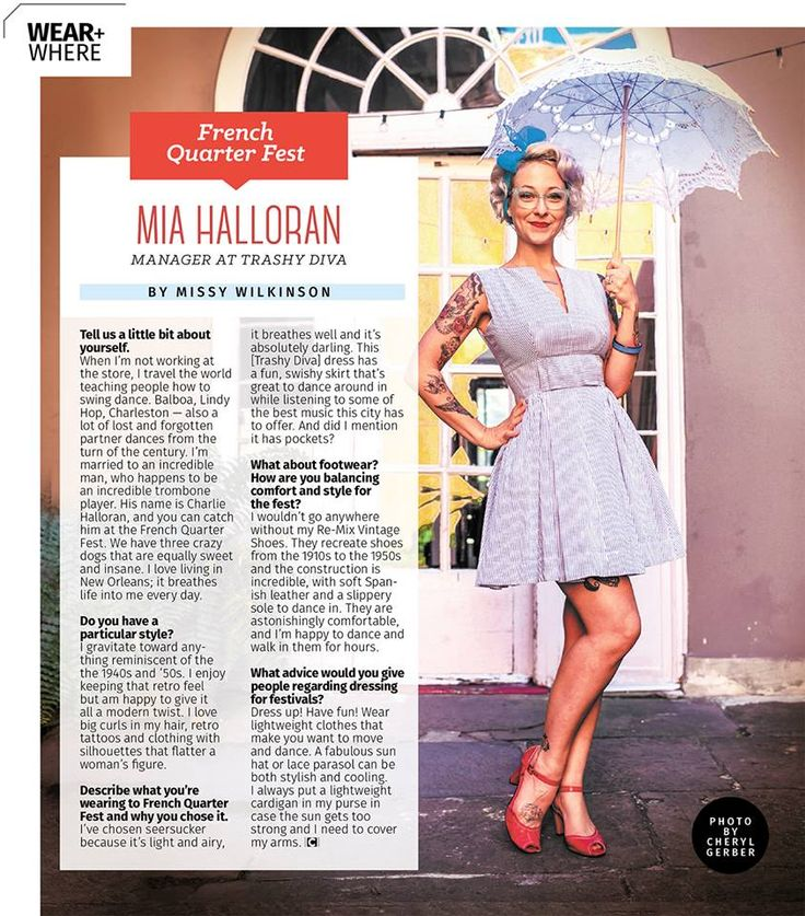 French Quarter Fest is right around the corner. Pick up a copy of Gambit Weekly to read Diva Mia's tips for dressing for festing! She rocks the Bitsy Belle Dress for this feature. #trashydivaseersucker #trashydivabitsydress #trashydiva
