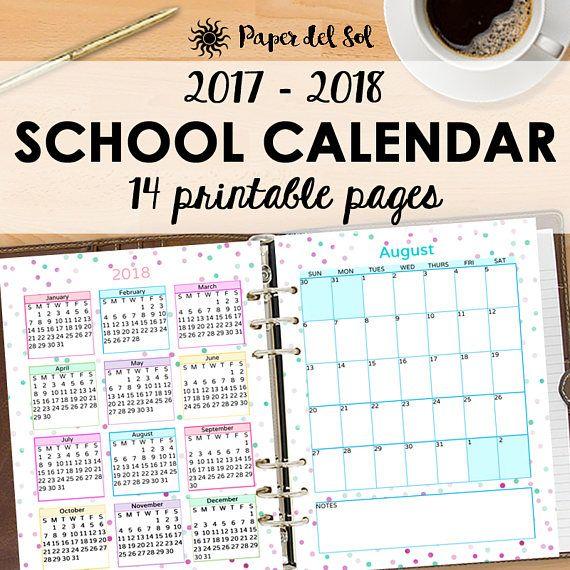 school year calendar 2018 2018