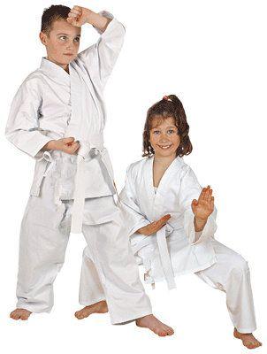 包邮空手道服儿童成人学员空手道服空手道服装白色长袖空手道道服