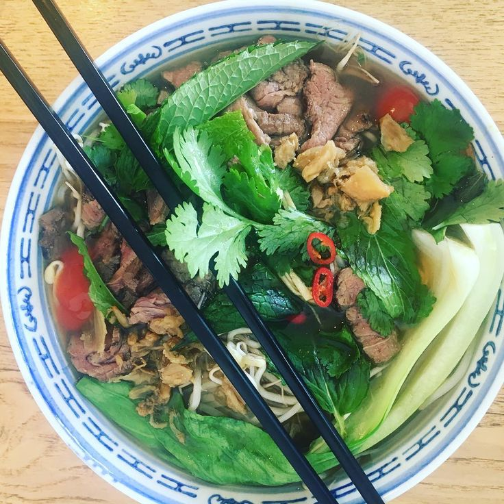 Pho Bo (beef noodle ) oh I ❤️so much #pho #pho4ever
