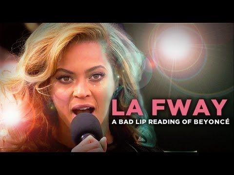 """""""LA FWAY"""" — A Bad Lip Reading of Beyoncé. SO FUNNY!!!!"""