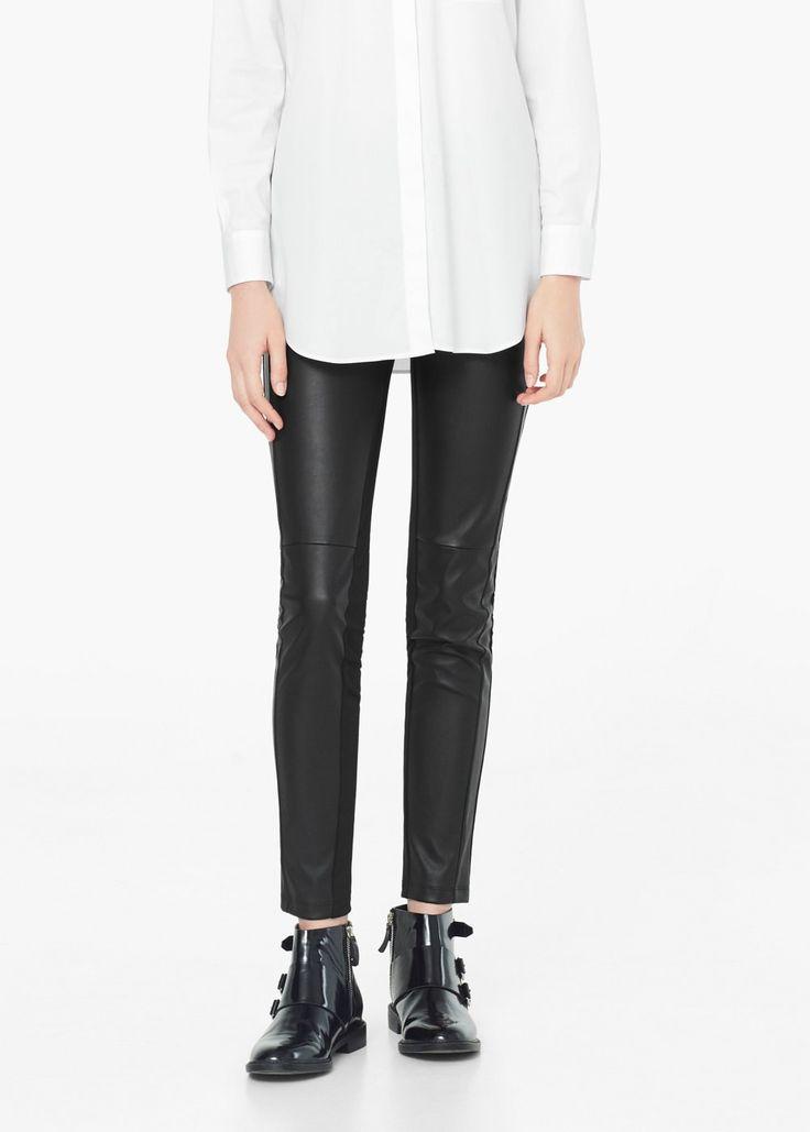 Colanți cu buzunar și fermoar - Pantaloni pentru Femei | MANGO