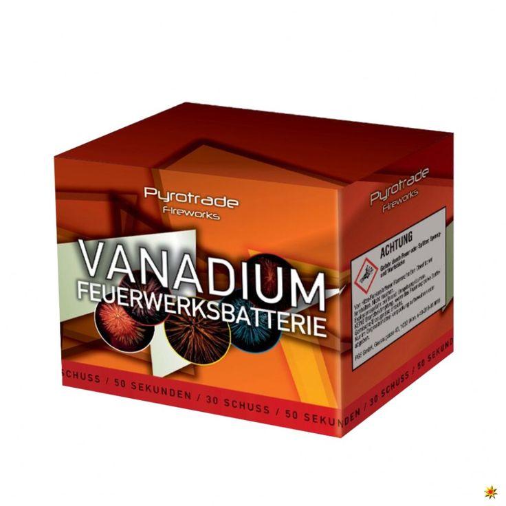Feuerwerksbatterie Vanadium von Pyrotrade - fireworks  Feuerwerk kaufen