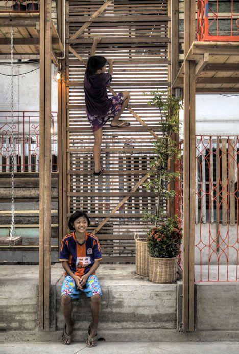 Klong Toey Community Lantern by TYIN tegnestue - climbing frame, playground, garden, trellis, meeting place