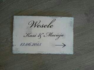 Wedding personalized board www.nattu.pl