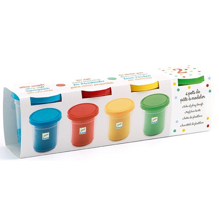 4 színű pillegyurma készlet (Djeco 4 tubs of play dough) | Pandatanoda.hu Játék webáruház