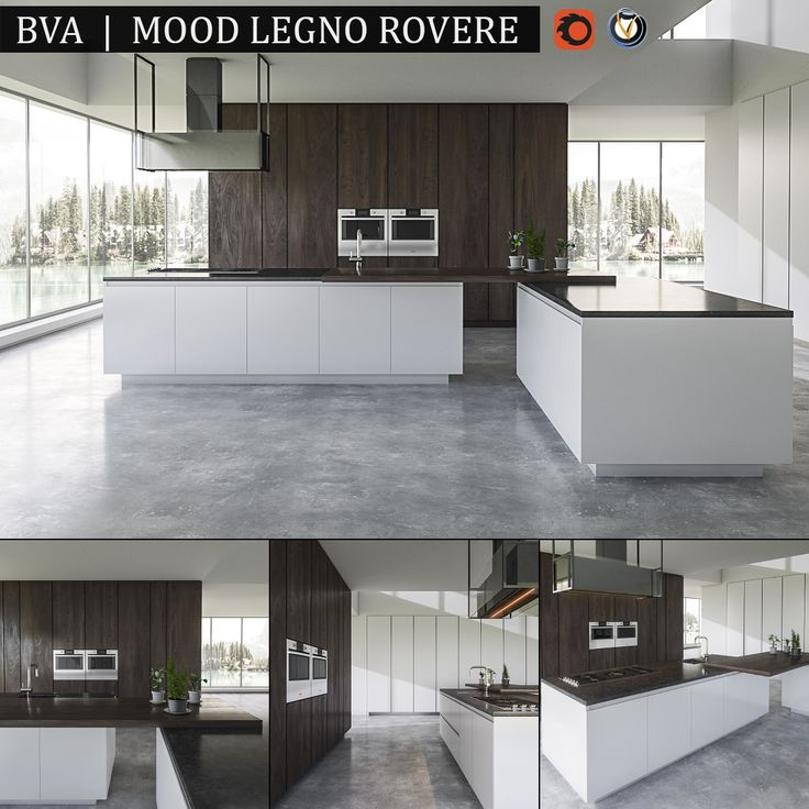 Kitchen BVA Mood Legno Rovere Model Available On Turbo Squid, The Worldu0027s  Leading Provider Of Digital Models For Visualization, Films, Television, ...