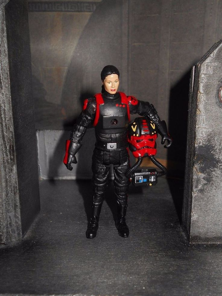Custom Star Wars Female 181st Squadron Elite Interceptor Tie Fighter Pilot Custom Tie Fighter