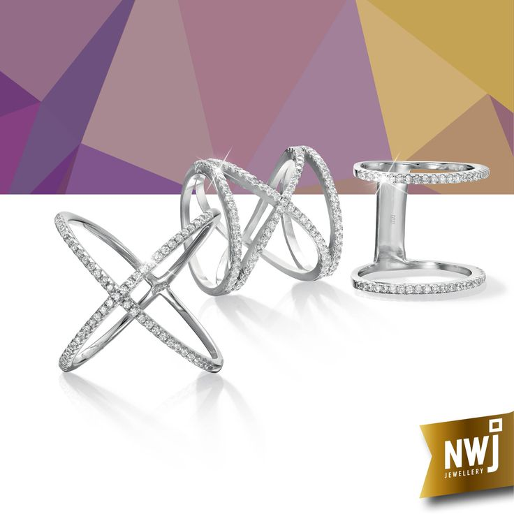 Stay on trend with these beautiful silver and CZ rings - with 35% off on our silver range, how can you resist?